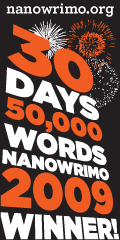 NaNoWriMo 2009 winner graphic