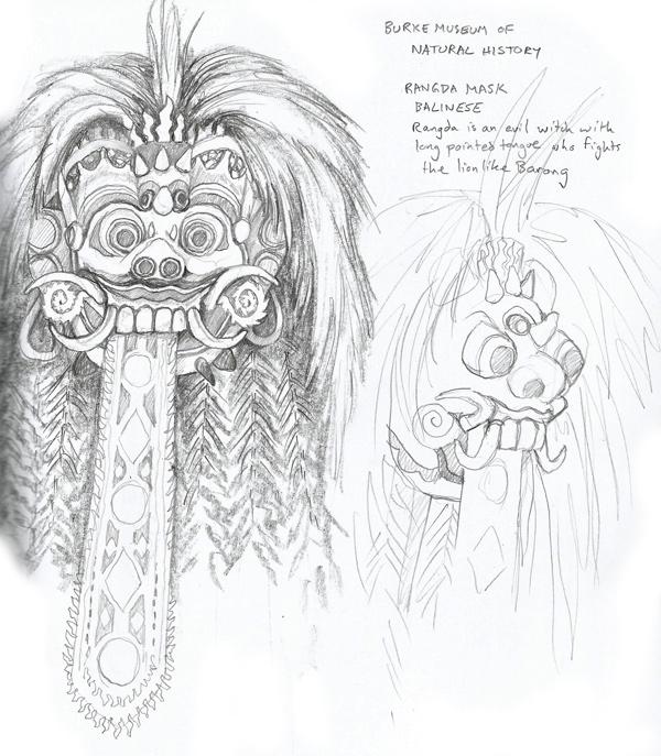 Rangda mask - Balinese